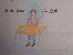 Stillen bei der Arbeit oder im Café