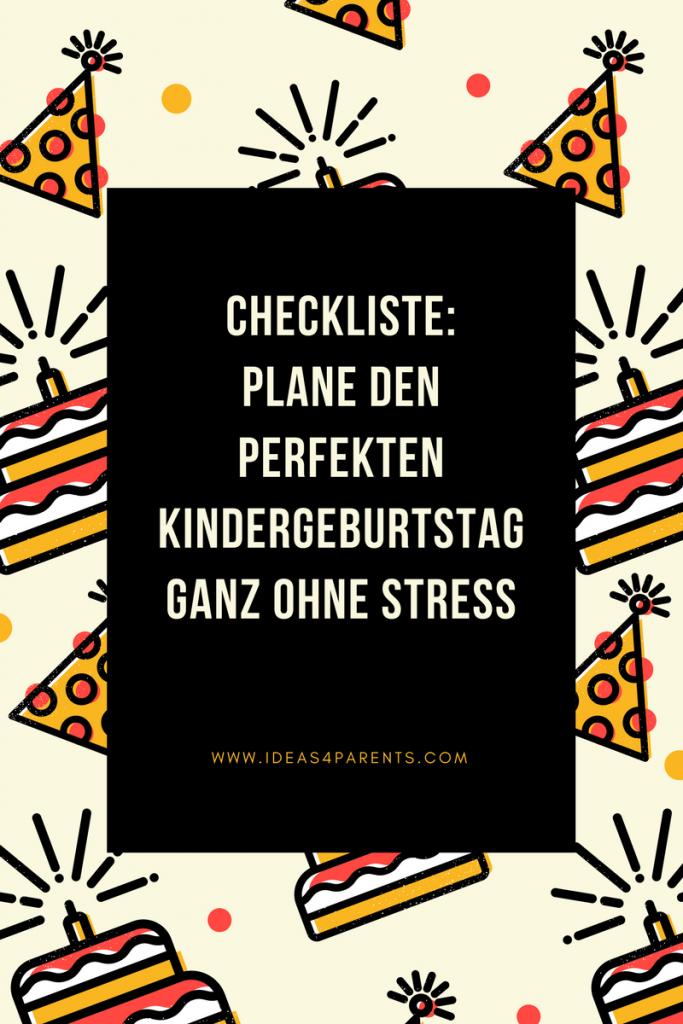 Kindergeburtstag Checkliste