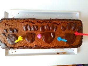 Kindergeburtstag Kuchen mit Katzenpfoten