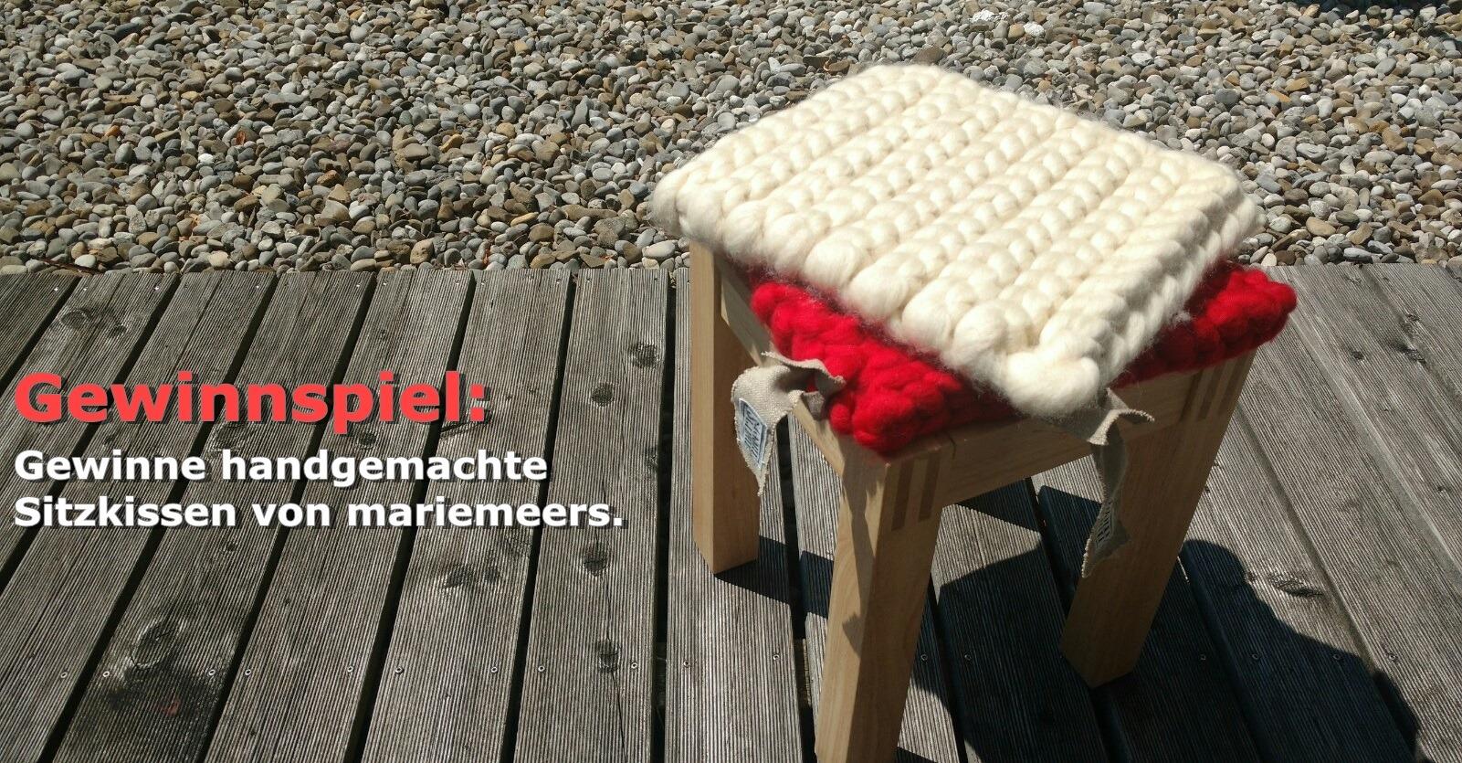 Handgemachte Sitzkissen von mariemeers (+Gewinnspiel)